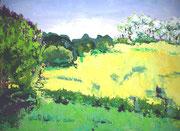 Rapsfeld, 2009, 70 x 100cm, Ölspachtel