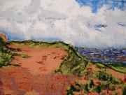 Rotes Kliff , 2009, 60 x 80cm, Ölspachtel