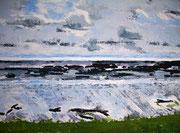 Wattenmeer, 2009, 60 x 80cm, Ölspachtel, verkauft
