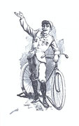 Ein stolzer Radfahrer um 1895