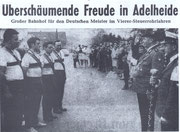Empfang der Deutschen Meister 1969 vor dem Vereinslokal