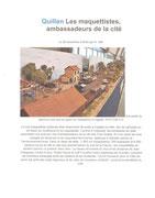 """- Quatrième article sur l'expo d'Argelès : """"Quillan : Les maquettistes, ambassadeurs de la cité"""""""