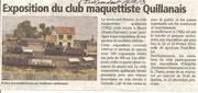 """- Article pour l'expo de Muret les 5 & 6/10/2013 dans l'Indépendant le 16/10/13: """"Exposition du Club Maquettiste Quillanais"""""""