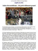 """- Troisième article sur l'expo d'Argelès : """"Salon du modelisme du  petit tellement grand"""""""