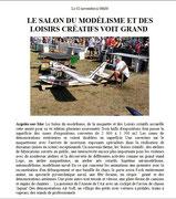 """- Deuxième article sur l'expo d'Argelès : """"Le salon du modelisme et des  loisirs créatifs voit grand"""""""