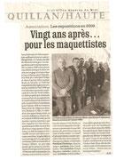 """- Article dans La Dépêche du 31/01/2009 :   """"Vingt ans après ...  pour les maquettistes"""""""