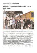 """- Article pour la sortie """"train jaune"""" dans La Dépêche du Midi le 21/03/2012 : """"Quillan : Les maquesttistes en  ballade avec le train jaune"""""""
