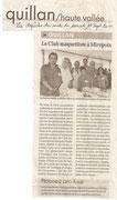 """- Article pour la seconde expo de Mirepoix les 20 & 21 août 2011,  dans la Dépêche du Midi le Samedi 17 sept 2011 : """"Le club maquettiste à Mirepoix"""""""
