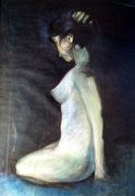 Sitzender Akt, Carmen Best 1997, 80x120