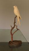 oiseau en bois sculpté: Hirondelle rustique