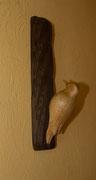 oiseau en bois sculpté: pic épeichette