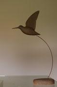 oiseau en bois sculpté: Bécasse des bois