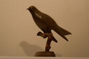 Sculpture d'oiseau en bois: coucou en Noyer