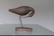 oiseau en bois sculpté: Avocette
