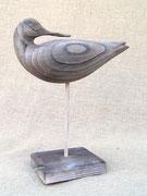 sculpture d'oiseau en bois : chevalier gambette