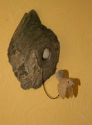 oiseau en bois sculpté: Troglodyte mignon