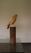 oiseau en bois sculpté: Faucon pélerin