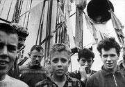 jeunes marins à bord de leur trois mâts