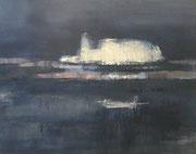 Nocturne # 5, 2012 / Acrylic paint, pigment on canvas / 92 / 73cm