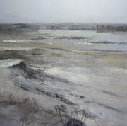 Winterwandeling #1, 2012 /Acryl verf, pigment op linnen doek /63x63cm