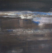Nocturne #1, 2012 /Acrylic paint, pigment on canvas / 45x45cm / Private collection in the Netherlands