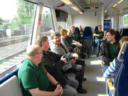 Im Zug nach Heimbach.
