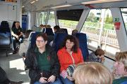 Im Zug  nach Heimbach