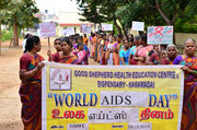 The World Aids Day Celebration at Good Shepherd was celebratet by SHG mebers on the 02.12.14.