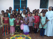 The girls from Clare Bhavan are between 8 to 17 years old.