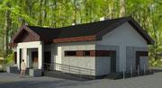 Budynek zaplecza socjalno-biurowego szkółki leśnej w Klosnowie - projekt