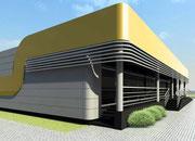 Koncepcja przebudowy pawilonu handlowego w Człuchowie