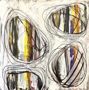 60 x 60 cm Acryl auf Leinwand