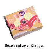 Kleine Box mit zwei Klappen