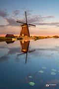 Landschapsfotografie: 'Golden Mill'; molen bij Groot-Ammers