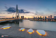 Zicht op het Noordereiland in Rotterdam