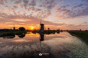 Landschapsfotografie: 'End of the day' bij de Kinderdijkse molens