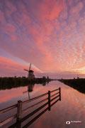 Landschapsfotografie: 'Sunrise Kinderdijk' in Werelderfgoed Kinderdijk