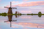Landschapsfotografie: Bewerking 'Reflecties Kinderdijk in Unesco Werelderfgoed Kinderdijk