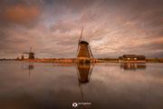 Landschapsfotografie: 'The Middle' bij de molens van Kinderdijk