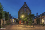 Nachtfotografie van pakhuis De Hoop te Amersfoort.
