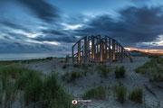 Nachtfotografie: 'De Zandwacht' aan de Tweede Maasvlakte nabij Rotterdam (Zuid-Holland, Nederland)