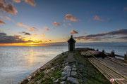 Landschapsfotografie: Havenhoofd van Volendam tijdens zonsopkomst!