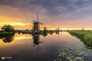 Landschapsfotografie: Amazing sunset in Werelderfgoed Kinderdijk
