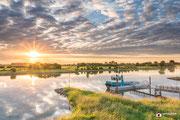 Landschapsfotografie: Veerpont te Gorssel in rivier de IJssel