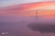 Landschapsfotografie: Broekmolen ingepakt in de mist