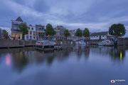 Lingehaven in de stad Gorinchem