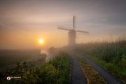 Landschapsfotografie: Pad naar de zon bij de Broekmolen