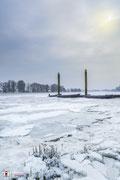 Landschapsfotografie: Winterse omstandigheden bij de Afgedamde Maas nabij Woudrichem