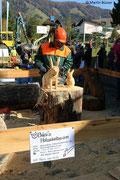 Holzsymposium - Entstehung von zwei Hasen