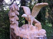 Adler mit Jungem